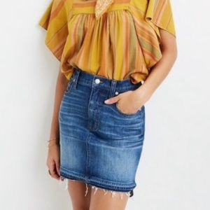 Madewell Raw Step Hem Mini Skirt Bandit G7100 8M10